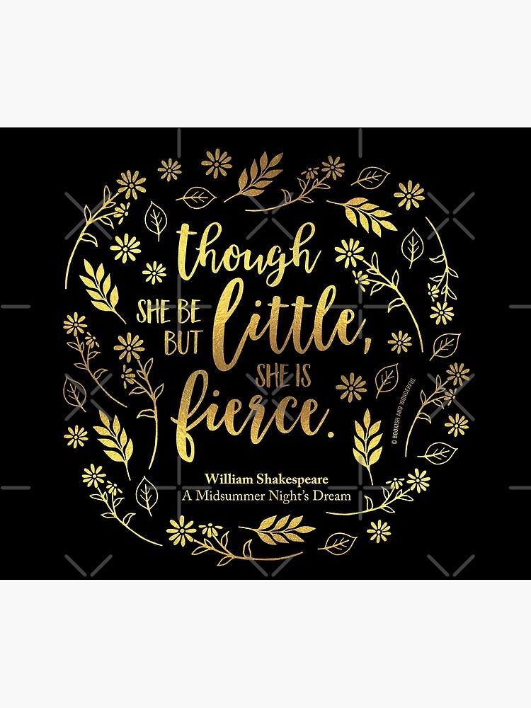 Faux Gold Floral wenig aber heftigen William Shakespeare von bookishwonder