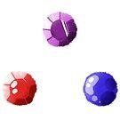 Ruby Sapphire Garnet Sticker Set by Skitty Vasquez