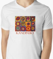 Squares with Concentric Circles (1913) by Wassily Kandinsky Men's V-Neck T-Shirt
