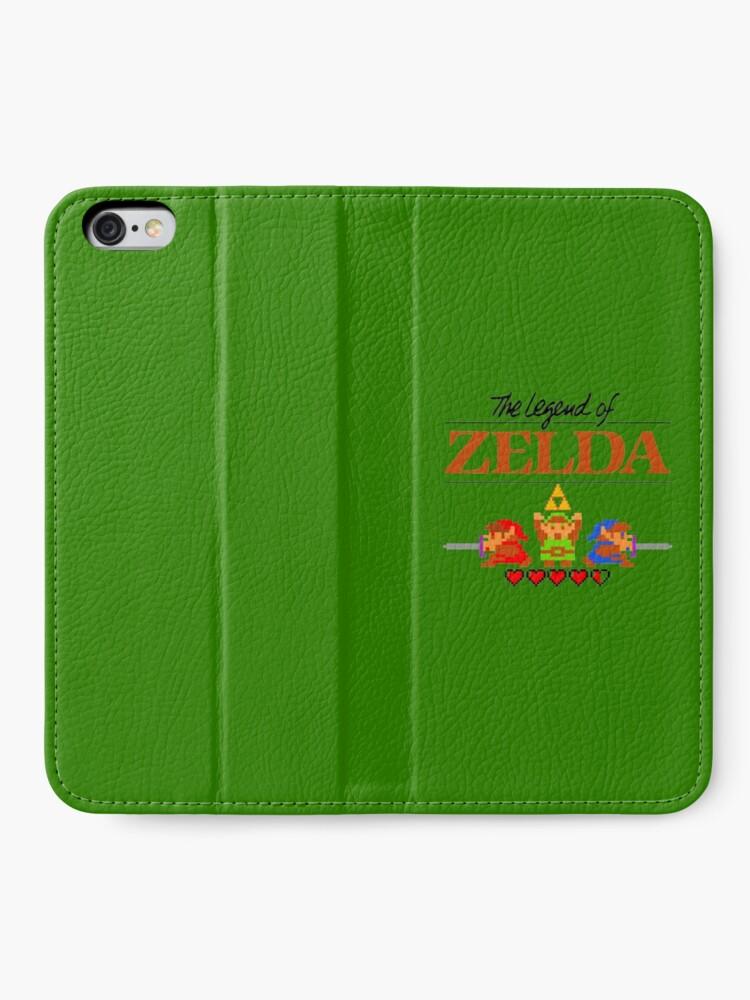 Alternative Ansicht von Die Legende von Zelda Ocarina der Zeit 8 Bit iPhone Flip-Case