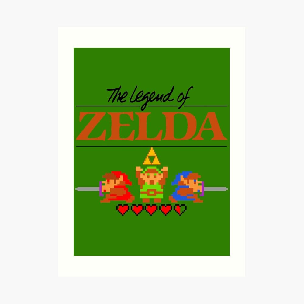 Die Legende von Zelda Ocarina der Zeit 8 Bit Kunstdruck