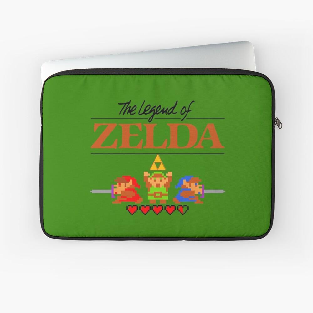 Die Legende von Zelda Ocarina der Zeit 8 Bit Laptoptasche