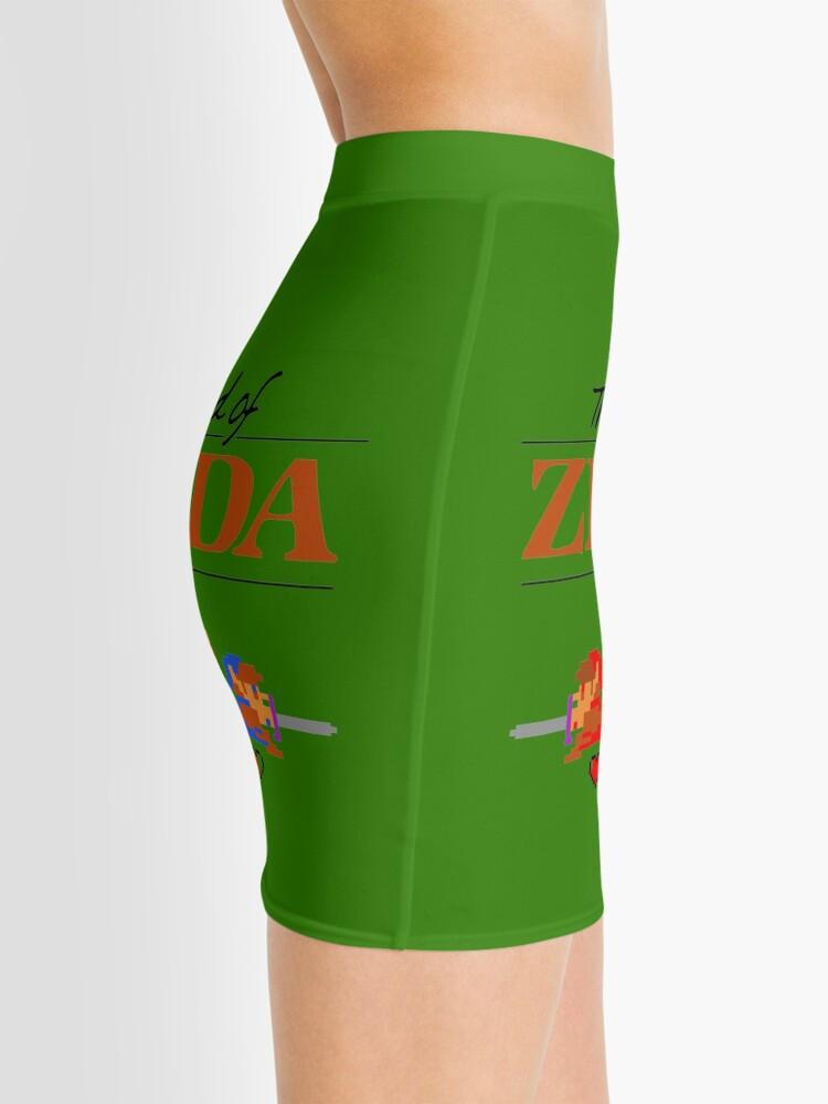 Alternative Ansicht von Die Legende von Zelda Ocarina der Zeit 8 Bit Minirock