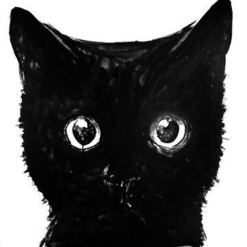 black cat by pechane