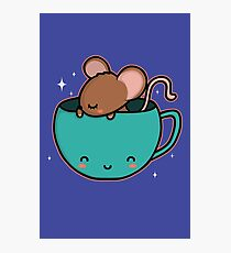 Teacup Mouse Photographic Print