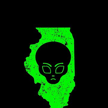 UFO Sightings Alien Head UFO Coverup Illinois by drwigglebutts