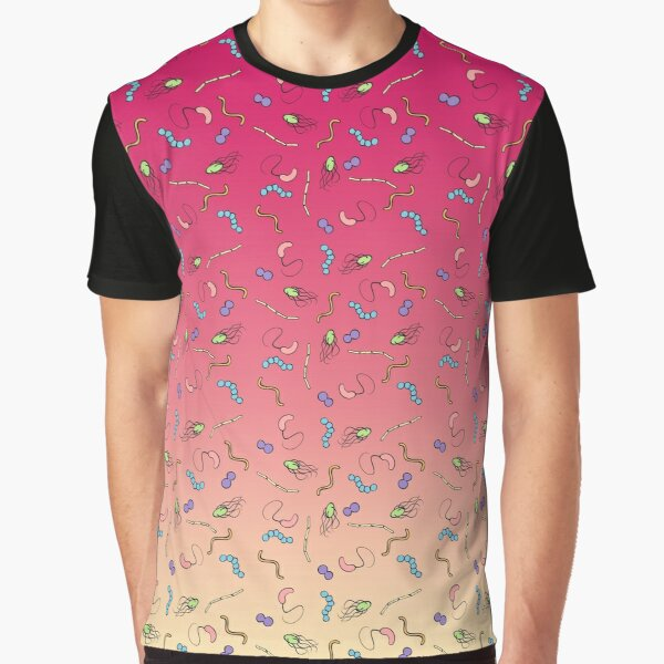 Sunset ombre bacteria Graphic T-Shirt