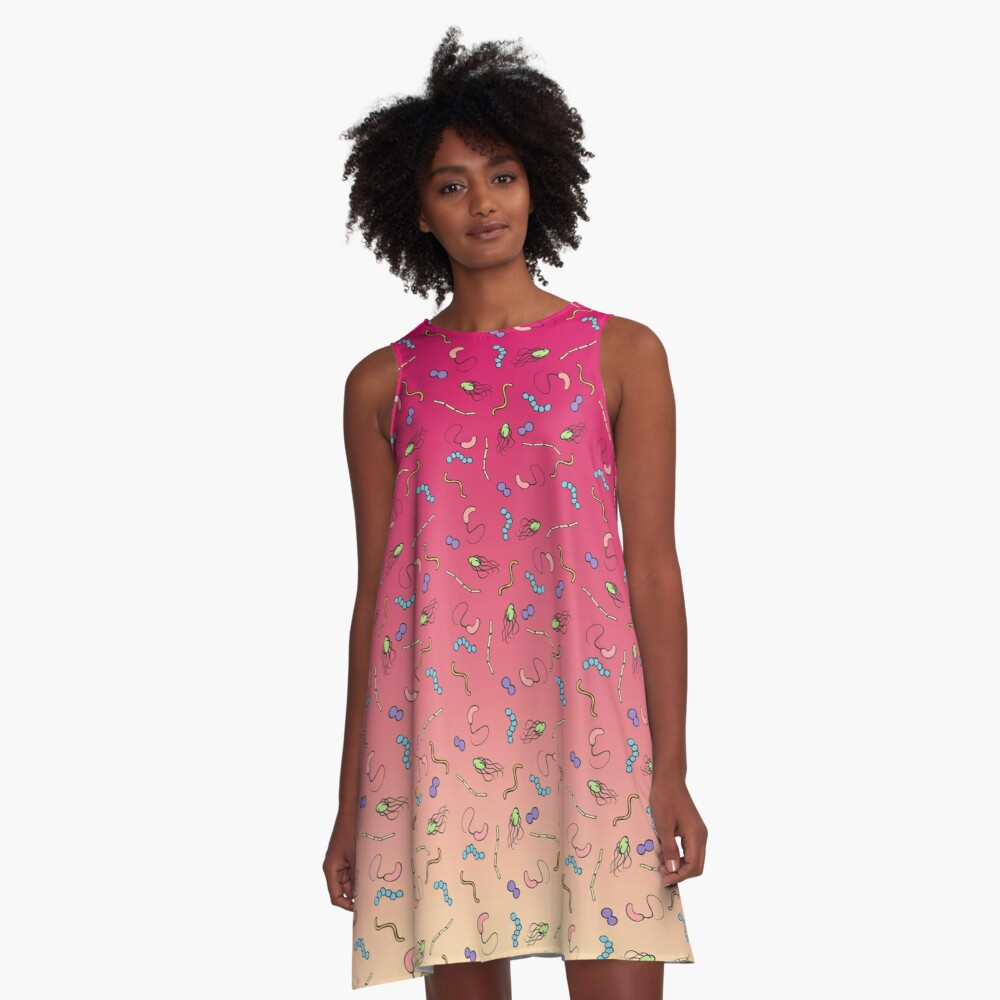 Sunset ombre bacteria A-Line Dress