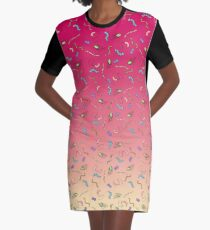 Sunset ombre bacteria Graphic T-Shirt Dress
