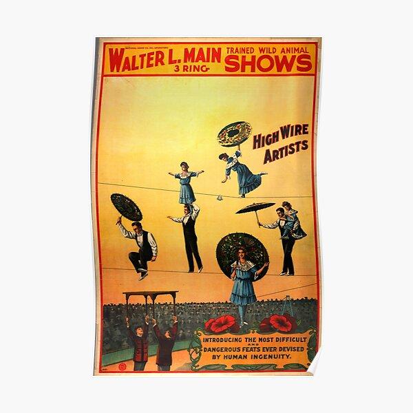 Walter L. Main Circus Vintage Poster Poster