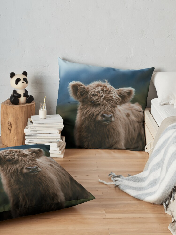 Alternate view of Baby Highland Cow Floor Pillow