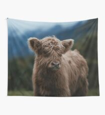 Baby Highland Cow Wall Tapestry