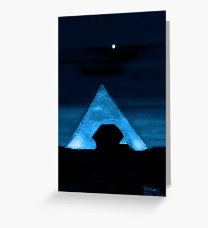 Egyptian Moonlight Greeting Card