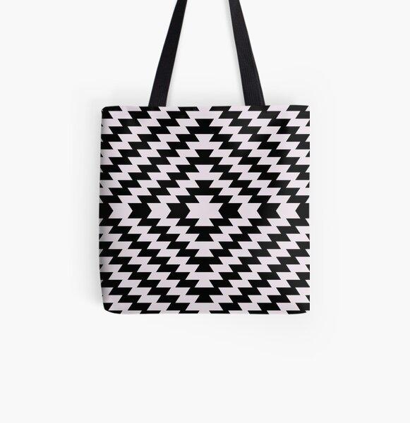 Modern Kilim - black and white All Over Print Tote Bag