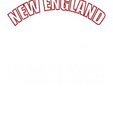 New England Patriots So Many Rings Football Fans T-Shirt  by Bloodaxe