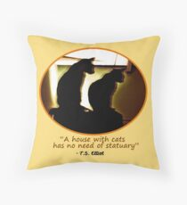 Two Cats in Sillouette Throw Pillow