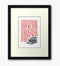 Tale of a Typewriter Framed Print
