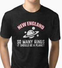 New England Patriots So Many Rings Football Fans T-Shirt  Tri-blend T-Shirt