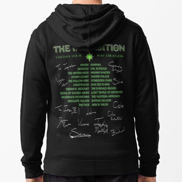 Inquisition Concert Tour Zipped Hoodie