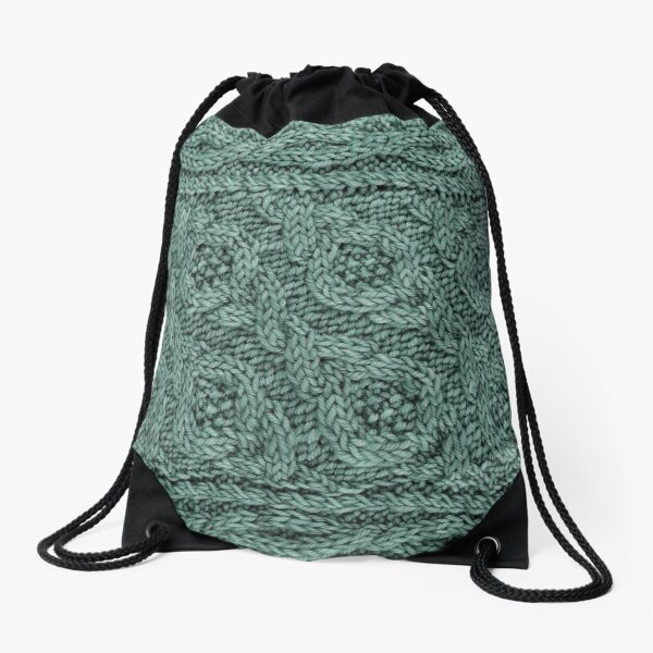 Crossways Cable - Teal Drawstring Bag