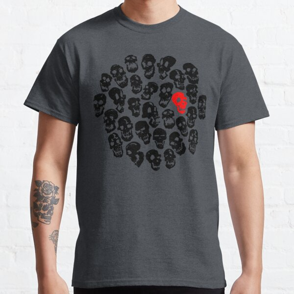 Black on Black Skulls Classic T-Shirt