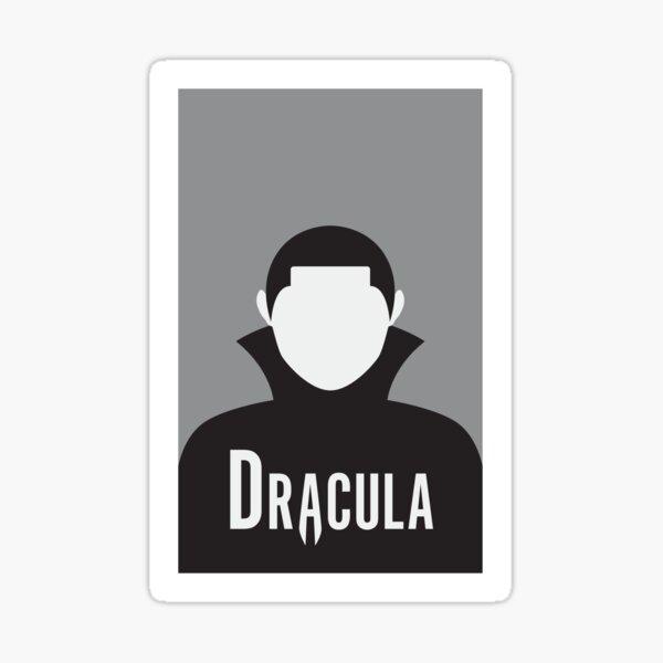 Dracula Minimalist Poster Sticker