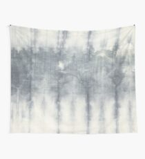 Grey and White Vintage Tie Dye Wall Tapestry