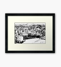 Agropoli: landscape with beach Framed Print