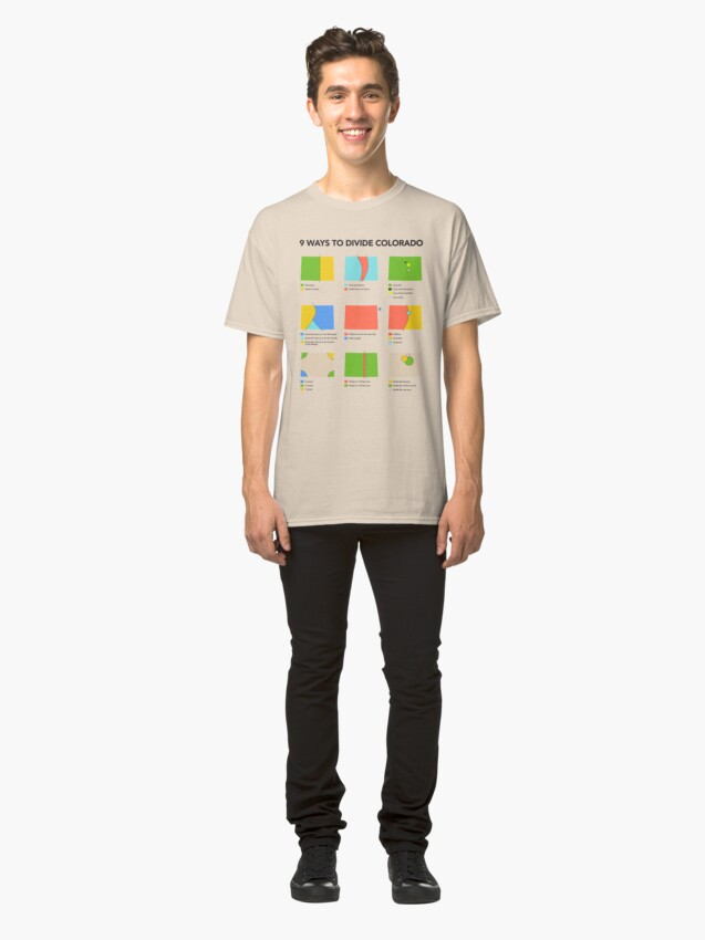 Alternate view of 9 Ways to Divide Colorado - Clothing Classic T-Shirt