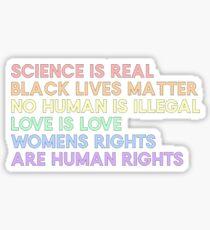 Rainbow Activism Sticker