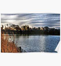 Brickfield Pond Rhyl HDR Poster