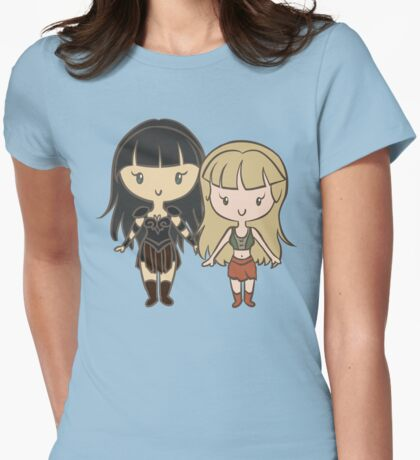 Xena & Gabrielle - Lil' CutiEs Womens Fitted T-Shirt