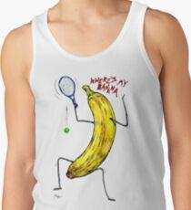 Angry Banana Tennis Player Tank Top