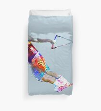 Super Crayon Colored Wakeboarding Duvet Cover