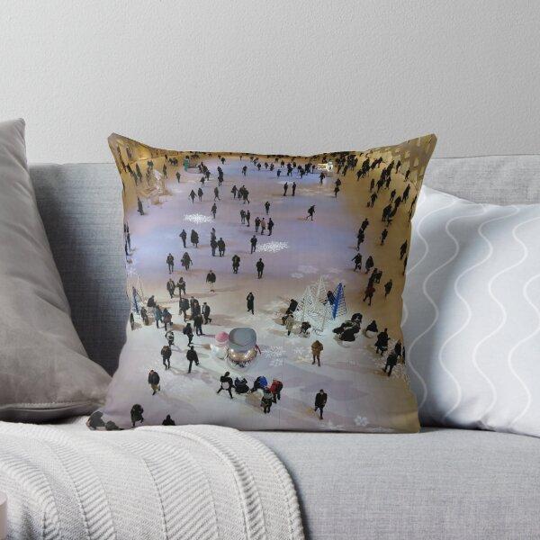 Street, City, Buildings, Photo, Day, Trees, New York, Manhattan, Brooklyn Throw Pillow