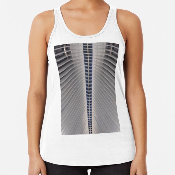 Street, City, Buildings, Photo, Day, Trees, New York, Manhattan, Brooklyn Racerback Tank Top