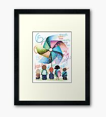 Best Wishes Windmill Framed Print