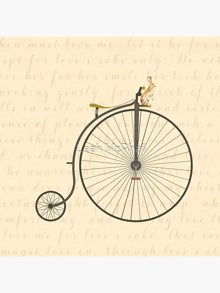 Vintage Penny Farthing Bunny by LeahMcPhail