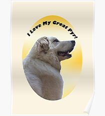 I Love My Great Pyr! - Great Pyrenees Mountain Dog Poster