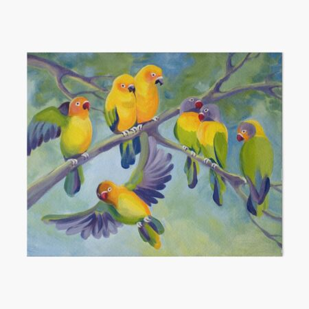 LOVEBIRDS Art Board Print