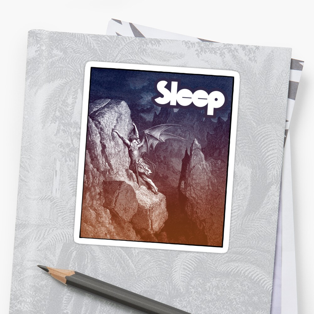 Sleep doom band sticker