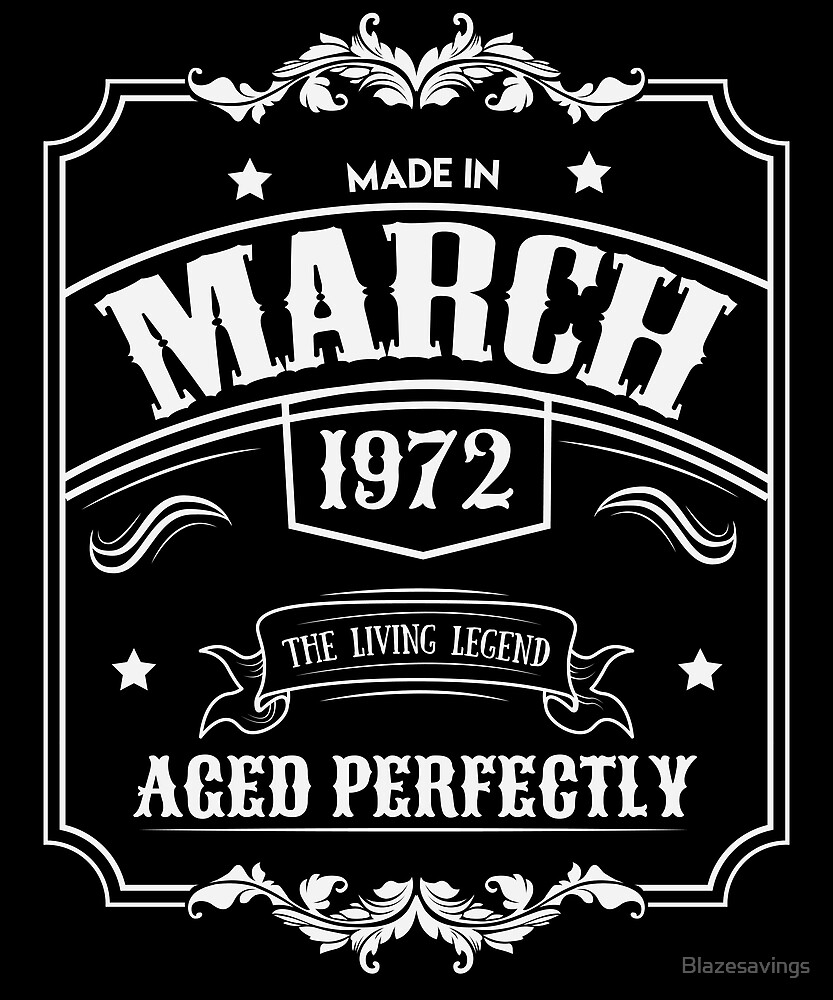 Made in 1972 t-shirt birthday celebration funny party present gift Teeshirt