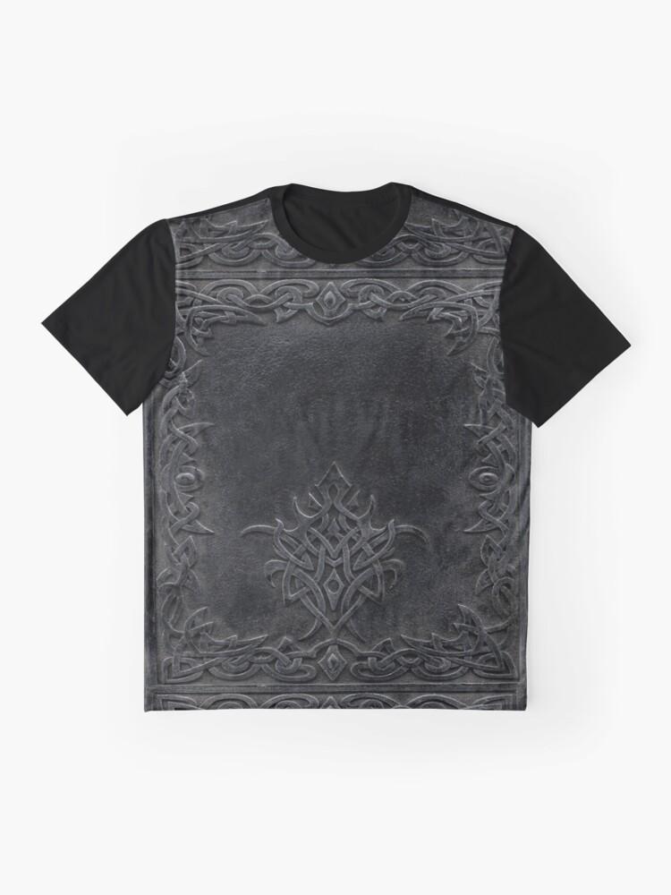 Alternative Ansicht von Stammes-Rand-Bucheinband-Dunkelheit Grafik T-Shirt