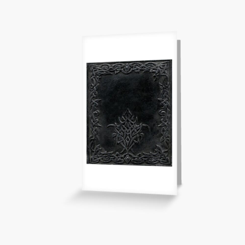 Stammes-Rand-Bucheinband-Dunkelheit Grußkarte