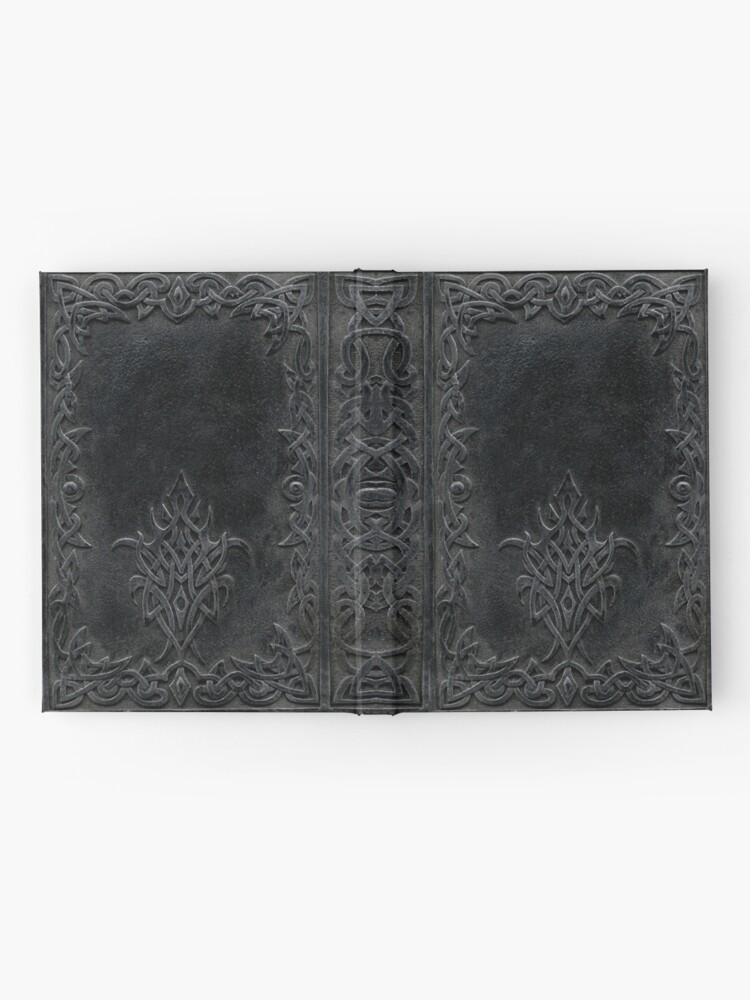 Alternative Ansicht von Stammes-Rand-Bucheinband-Dunkelheit Notizbuch