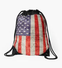 Antique American Flag Drawstring Bag