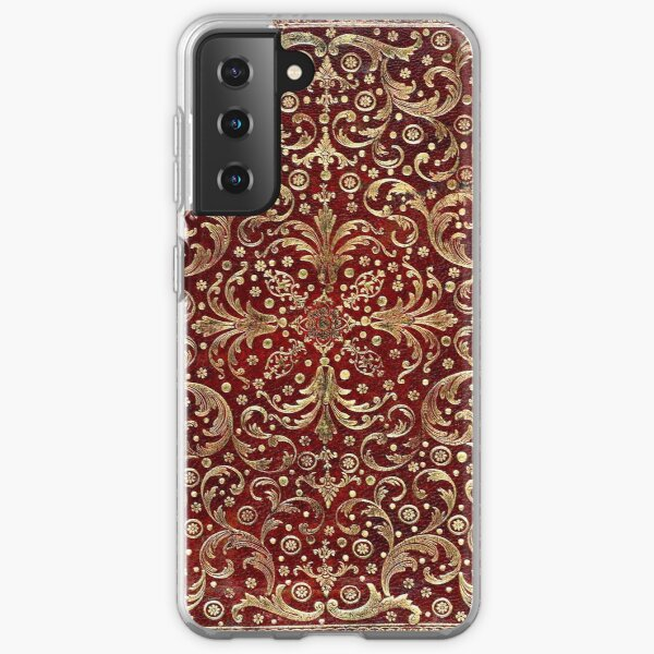 Golden Swirled Red Book Samsung Galaxy Soft Case