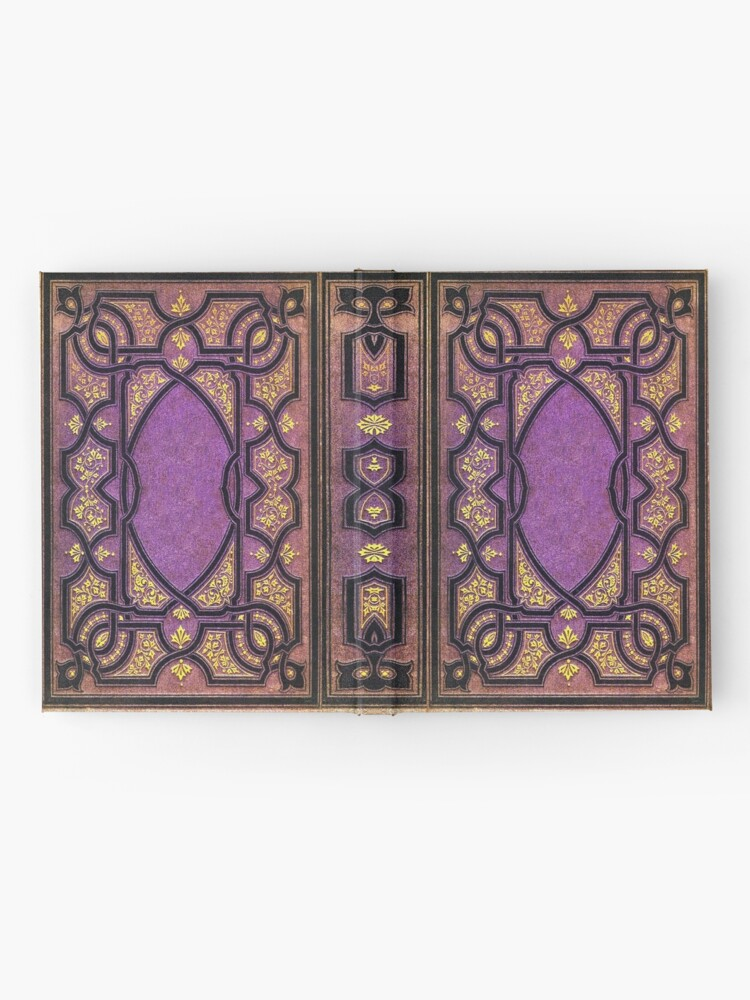 Alternate view of Purple and Gold Vines Book Hardcover Journal
