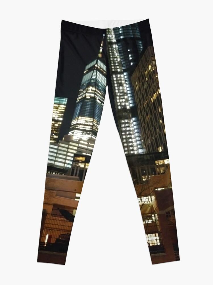 Alternate view of Street, City, Buildings, Photo, Day, Trees, New York, Manhattan, Brooklyn Leggings