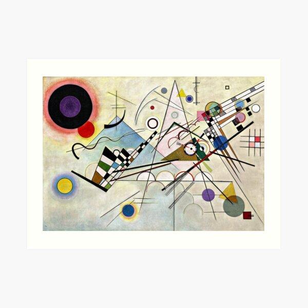 Kandinsky - Composition 8, abstract artwork Art Print